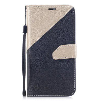 Hit Color Stitching with Lanyard Leather Case for iPhone X