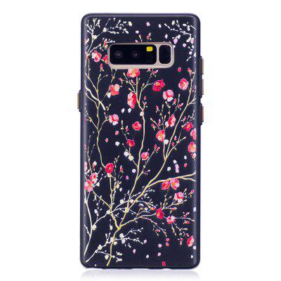 Embossed Cherry Tree Pattern Phone Case for Samsung Galaxy Note 8