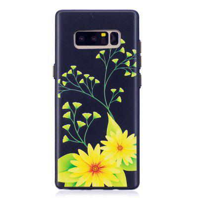 Embossed Chrysanthemum Pattern Phone Case for Samsung Galaxy Note 8