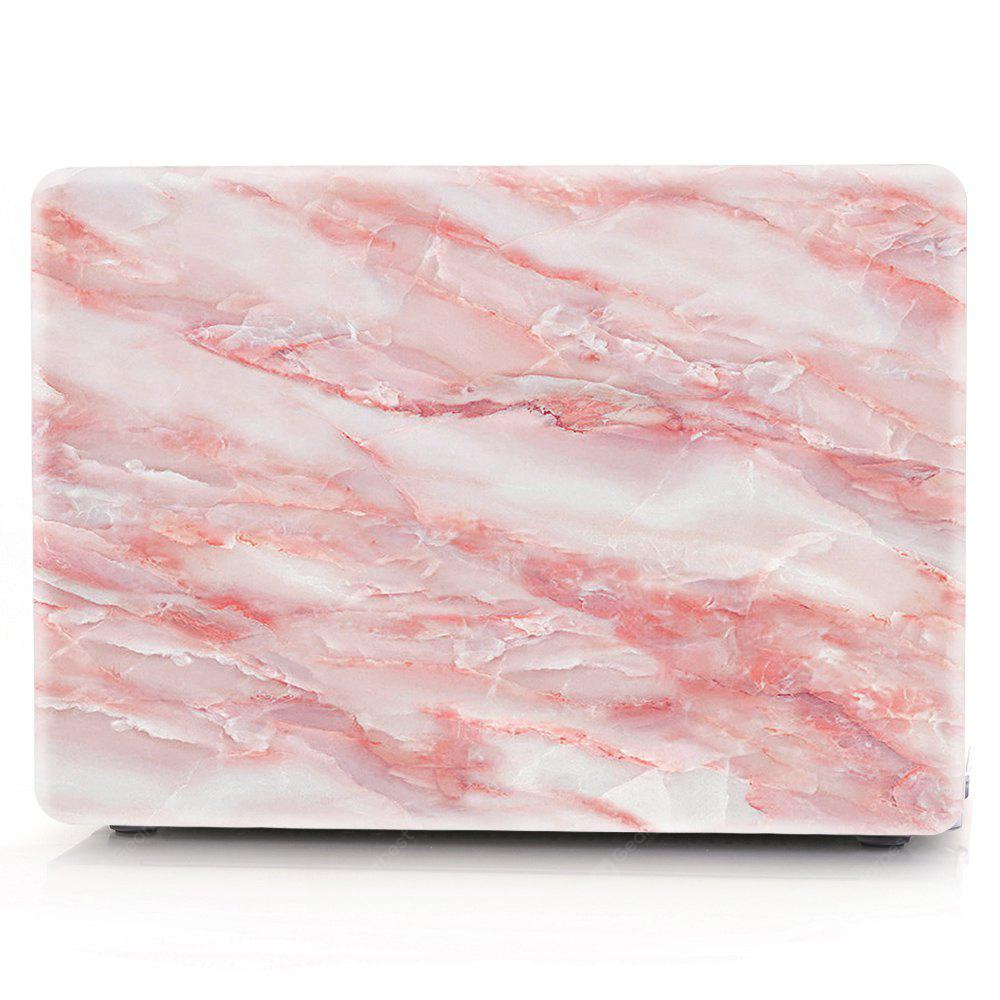 Computador Shell Laptop Case Keyboard Film para MacBook Pro 15,4 polegadas Touch 2016 3D Marble - Vermelho