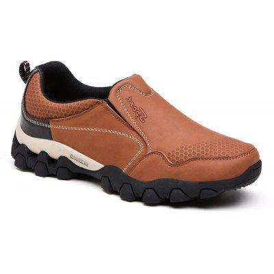 1639 Men'S Shoes Outdoor Men'S Leisure Sports Leather Breathable  Wear Soft Bottom Light Mountaineering Travel Shoes