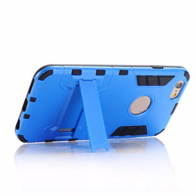 Buy Luxury Tough Shell Armor Case Dual Layer Hybrid Back Cover With Stand for iPhone 6 Plus / 6s Plus, BLUE, Mobile Phones, Apple Accessories, iPhone Accessories, iPhone Cases/Covers for $4.49 in GearBest store