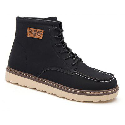 Men's Boots High Top Solid Fashion Design  PU Cool Shoes