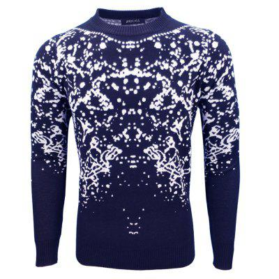 Autumn and Winter Men'S Round Collar Personality Casual Fashion Slim Pullover