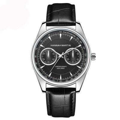 Hannamading KY12 4865 Casual Fashionable Waterproof Leather Band Men Watch