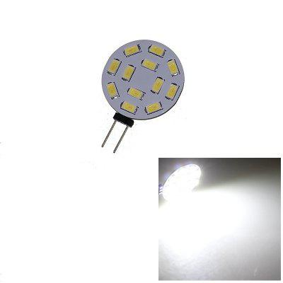 G4 12LEDs SMD5730 DC 12V Circular PlateLED Bi-pin Light g4 bi pin led bulb mini silicone 1505 cob spot light 12v dc warm cool white
