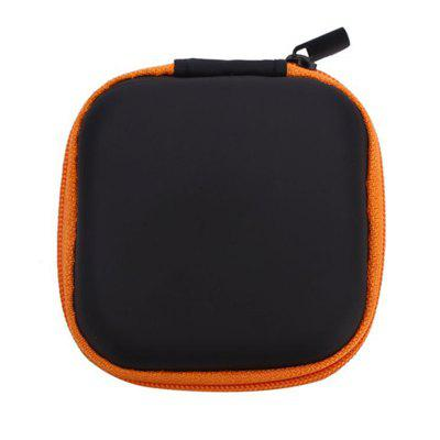 Buy ORANGE Hot Mini Zipper Hard Headphone Case PU Earphone Storage Bag Protective USB Cable Organizer Portable Earbuds Pouch Box for $1.67 in GearBest store