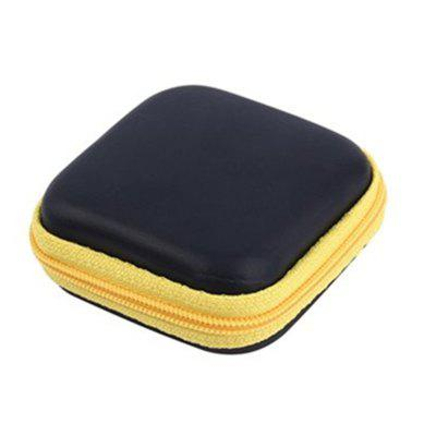 Buy YELLOW Hot Mini Zipper Hard Headphone Case PU Earphone Storage Bag Protective USB Cable Organizer Portable Earbuds Pouch Box for $1.67 in GearBest store