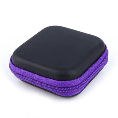 Buy PURPLE Hot Mini Zipper Hard Headphone Case PU Earphone Storage Bag Protective USB Cable Organizer Portable Earbuds Pouch Box for $1.67 in GearBest store