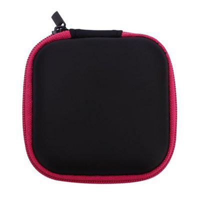 Hot Mini Zipper Hard Headphone Case PU Earphone Storage Bag Protective USB Cable Organizer Portable Earbuds Pouch Box