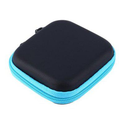 Hot Mini Zipper Hard Headphone Case PU Earphone Storage Bag Protective USB Cable Organizer Portable Earbuds Pouch Box oval style eva headphone carry bag hard for power beats pb in ear earphone pouches storage cases black box 100 60 40mm