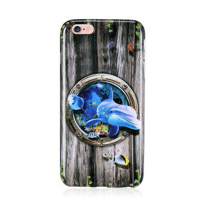 Marine Animal Dolphin Patterned Full Coverage Soft Tpu Phone Case for iPhone 6 Plus 6S Plus