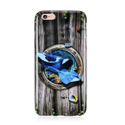 Marine Animal Shark Patterned Full Coverage Soft Tpu Phone Case for iPhone 6 6s