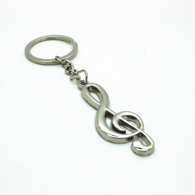 Creative Musical Notation Pendant Key Chain