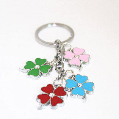 Creative Colorful Four-leaf Clover Pendant Key Chain