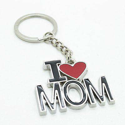 Creative I Love Mom Word Plate Pendant Key Chain