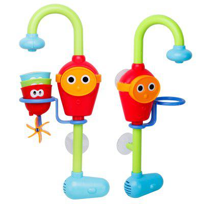 Children battery faucet bath toys Water toys under 36 months for children  -  1 SET  RED