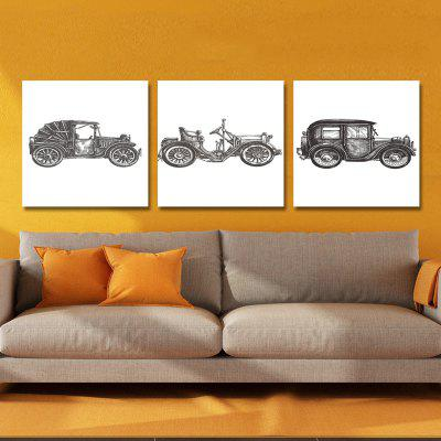DYC 10300  Black Withe Car Print Art Ready to Hang Paintings 3PCS