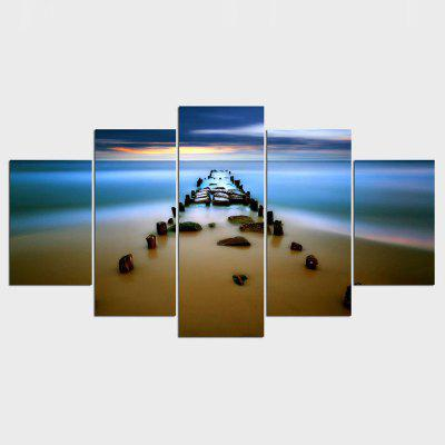 Canvas Painting Sea Bay Sunset Beach Canvas Wall Art Oil Picture Art Print Woks Home Decoration Modular Painting