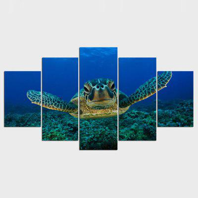5 Piece Deep Sea Turtles Painting on Canvas Room Decoration for Home Print Poster