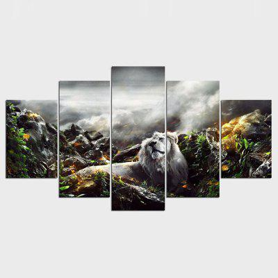 Buy 5 Pcs Set Modern Lion Animal Cuadros Decoracion Painting By Numbers Print on Canvas Wall Picture For Living Room Drop Shipping COLORMIX for $55.38 in GearBest store