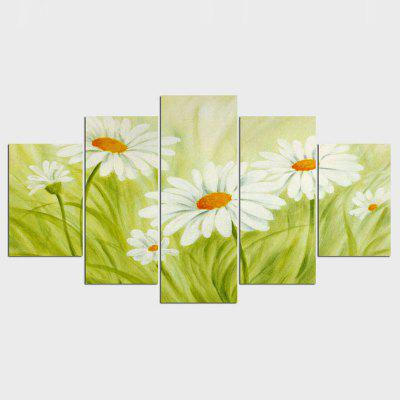 Chrysanthemum Flowers Art Canvas Wall Painting Hanging Pictures For Living Room Cuadros Decoracion 5 Panels