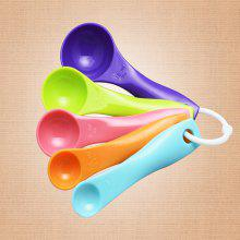 DIHE Colors Quantity Spoon Condiment Spoon Thickening Type 5PCS