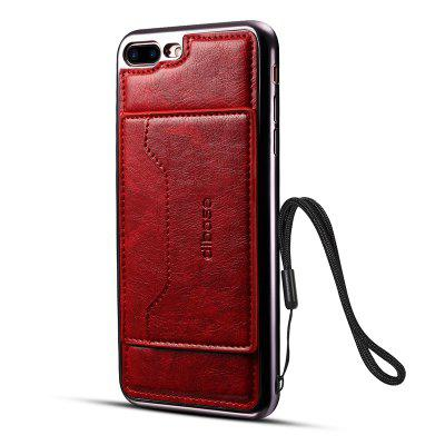 Electroplating TPU Crazy Horse Pattern Case for iPhone 7 Plus / 8 Plus