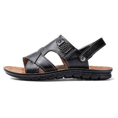 ZEACAVA Summer Outdoor Leisure Comfort Male Sandals 39-44Mens Sandals<br>ZEACAVA Summer Outdoor Leisure Comfort Male Sandals 39-44<br><br>Available Size: 39-44<br>Closure Type: Buckle Strap<br>Embellishment: None<br>Gender: For Men<br>Heel Hight: Ping<br>Occasion: Casual<br>Outsole Material: Rubber<br>Package Contents: 1 x Shoes (pair)<br>Pattern Type: Solid<br>Sandals Style: Slides<br>Style: Fashion<br>Upper Material: Full Grain Leather<br>Weight: 1.2000kg