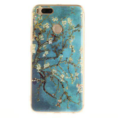 Apricot Blossom Pattern Soft Clear IMD TPU Phone Casing Mobile Smartphone Cover Shell Case for Xiaomi Mi 5X