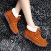 Women Warm Casual Shoes Winter Loafers Female Elevator Cotton Sneakers - BROWN