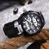 POPART 769AD Trendy Sports Rubber Band Waterproof Unisex Wristwatch - BLACK