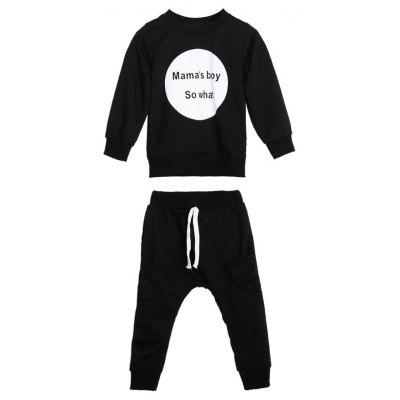 Autumn and Winter Boy Baby Toddler T-shirt Top + Pants Clothes Outfit Set  2Pcs