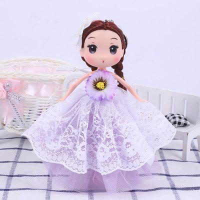 18CM Fashion Princess Vinyl Wedding Dress Doll Accessories