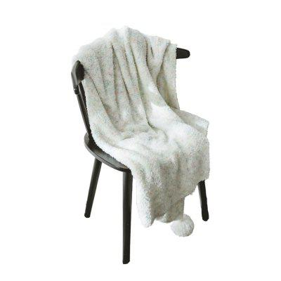 White Soft Warm Casual Blanket