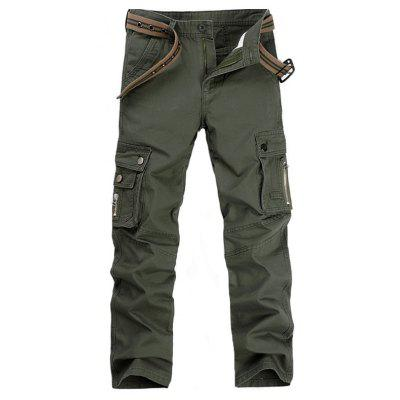 Men'S Casual Pockets Adorn Overalls