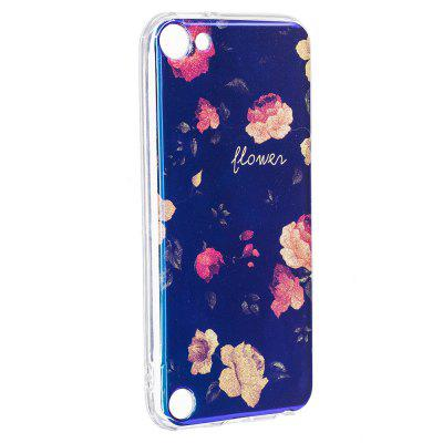 Blue Glitter Bud Pattern Case for iPod Touch 5 / Touch 6
