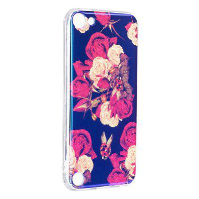Blue Glitter Flowers Pattern Case for iPod Touch 5 / Touch 6