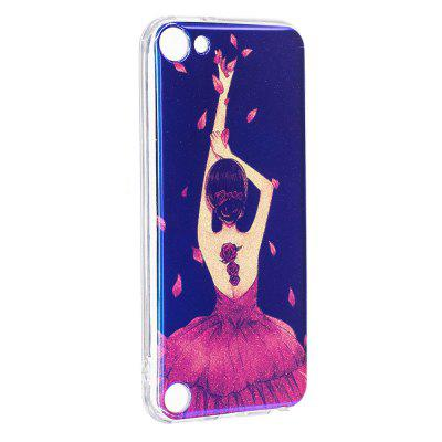 Blue Glitter Girl Pattern Case for iPod Touch 5 / Touch 6