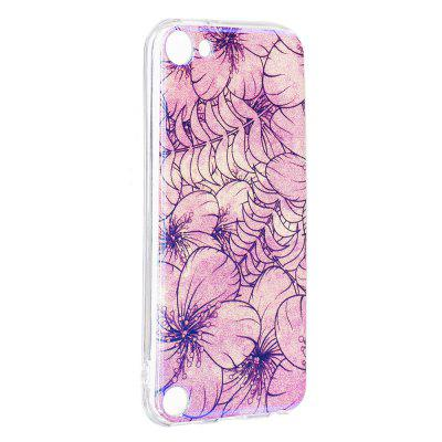 Blue Glitter Pink Flowers Pattern Case for iPod Touch 5 / Touch 6