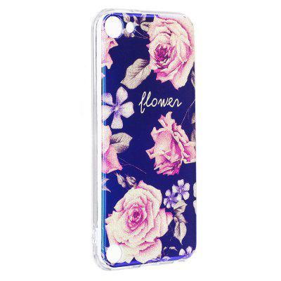 Blue Glitter Pink Peony Pattern Case for iPod Touch 5 / Touch 6