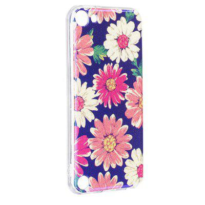 Blue Glitter Daisy Pattern Case for iPod Touch 5 / Touch 6