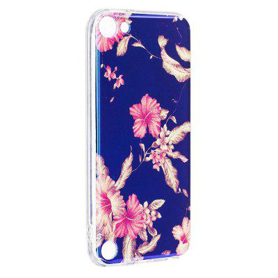 Blue Glitter Azalea Pattern Case for iPod Touch 5 / Touch 6