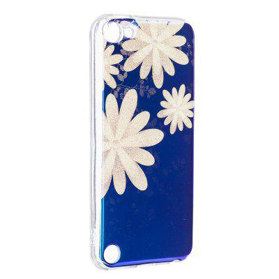 Blue Glitter Chrysanthemum Pattern Case for iPod Touch 5 / Touch 6