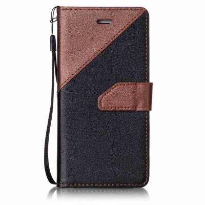 Color Stitching Leather Case for iPhone 8