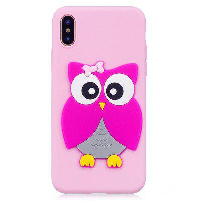 3D Owl Pattern Phone Protection Case for iPhone X