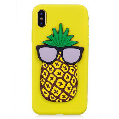 3D Pineapple Pattern Phone Protection Case for iPhone X