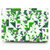 Computador Shell Laptop Case Keyboard Film para MacBook Air 11,6 polegadas 3D Polygonal Geometric Figure - VERDE