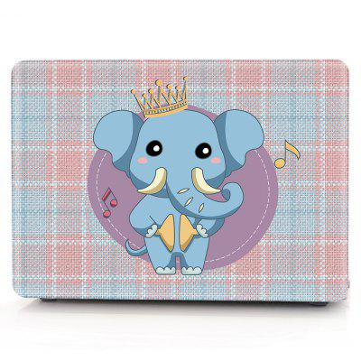 Computer Shell Laptop Case Keyboard Film for MacBook Air 13.3 inch 3D Crown Baby Elephant
