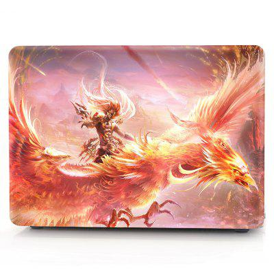 Computer Shell Laptop Case Keyboard Film for MacBook Air 13.3 inch 3D Flaming Phenix